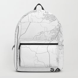Minimal City Maps - Map Of Salem, Oregon, United States Backpack