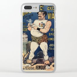 Funny vintage meat extract advertising Clear iPhone Case