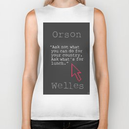 Orson Welles funny quote Biker Tank