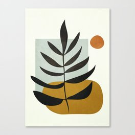 Soft Abstract Large Leaf Canvas Print