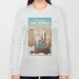 Southern Air Temple Travel Poster Long Sleeve T-shirt