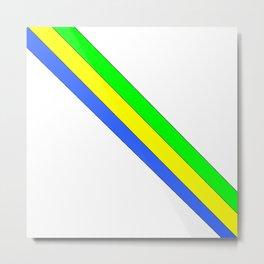 flag of gabon -gabon,gabonais,gabonaise,Gabonese,gabones,libreville. Metal Print