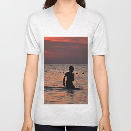 RED SUNSET - BALTIC SEA  Unisex V-Neck