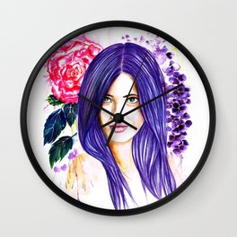 Pansy Flowers Wall Clock