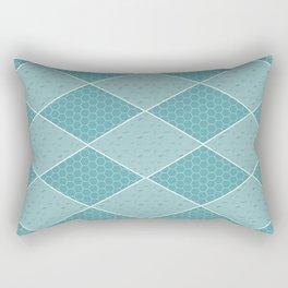 Aqua Tiles Pattern Rectangular Pillow