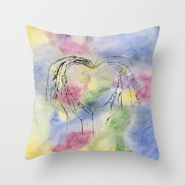 We Share One Heart Throw Pillow