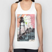 maine Tank Tops featuring Maine by Ursula Rodgers