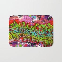 forgive graffiti Bath Mat