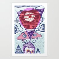 friday Art Prints featuring Friday by Andon Georgiev