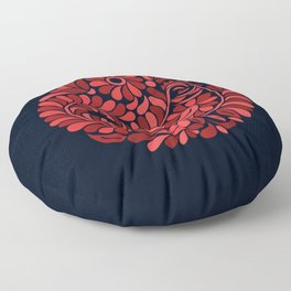 Folk Rooster Floor Pillow