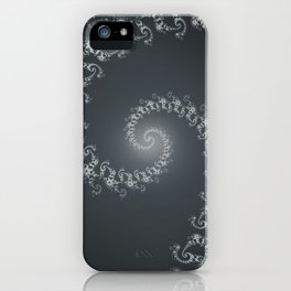 Follow the White Light - Fractal Art iPhone Case
