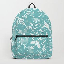 Colourscape Summer Floral Pattern Aqua Sky Backpack
