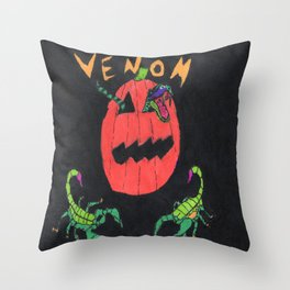 """Venom"" Throw Pillow"