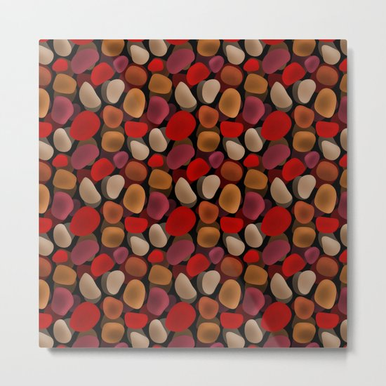 Abstract pattern . Sea stones .2 . Metal Print