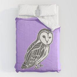 Grey Barn Owl Art Comforters