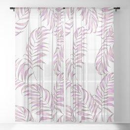 Pink Leaves Sheer Curtain