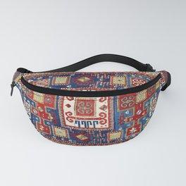 Karachov Kazak Caucasian Antique Carpet Print Fanny Pack