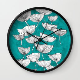 flying poppies Wall Clock