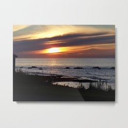 Streaked Sunset Metal Print