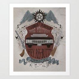 Supernatural retro crest Art Print