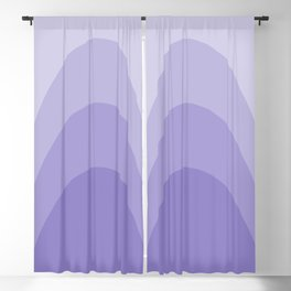 Four Shades of Lavender Curved Blackout Curtain