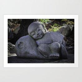 sleeping buddha Art Print