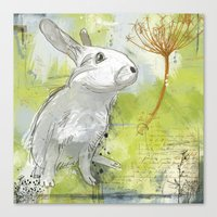 rabbit Canvas Prints featuring Rabbit by Melissa McGill