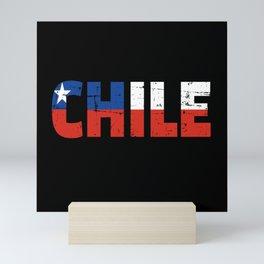 Chile flag Mini Art Print