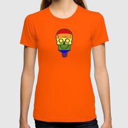 Gay Pride Rainbow Halloween Skull Skeleton T-shirt