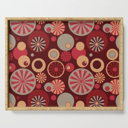 Circle Frenzy - Red Serving Tray
