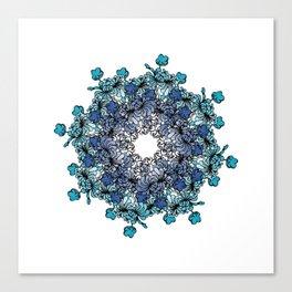 Indigo Bloom Portuguese Tiles – Porto Canvas Print