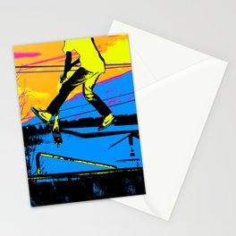 """""""Air Walking""""  - Stunt Scooter Stationery Cards"""