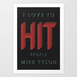 Hit People Art Print
