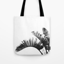 Palm leaves black and white tropical watercolor Tote Bag