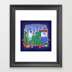 Mario Super Bros, Too Framed Art Print