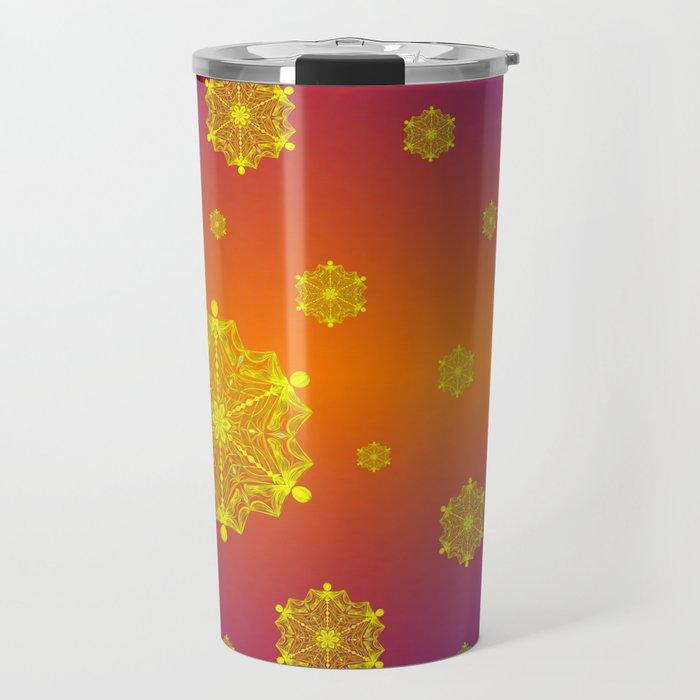 Snowflake Sunset Travel Mug