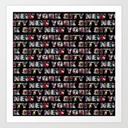 New York City (typography) Art Print
