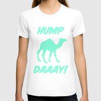 tiffany T-shirts featuring Hump Day Tiffany Camel by RexLambo