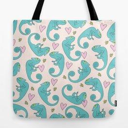Chameleon Paisley Tote Bag