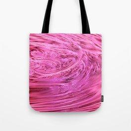 Pink Elemetal Liquid Wax Texture Tote Bag