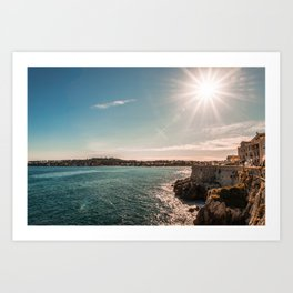 Seacoast of Antibes in a sunny winter day Art Print