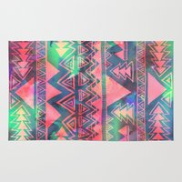 techno Area & Throw Rugs featuring Techno Native by Schatzi Brown