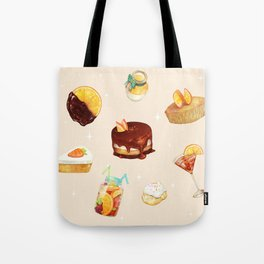 Orange Desserts Tote Bag