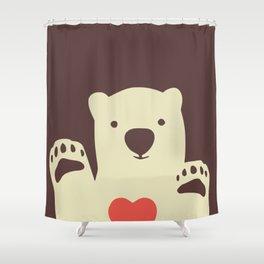Hearty bear paws Shower Curtain