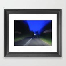 it was a long drive Framed Art Print