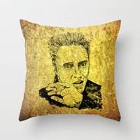 christopher walken Throw Pillows featuring Christopher by Rabassa