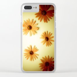 Retro 6 Kitchen Yellow Clear iPhone Case