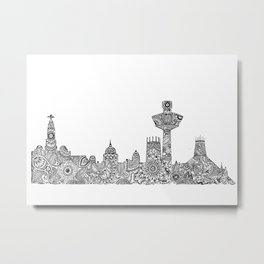 Liverpool City Skyline Metal Print