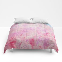 abstract vintage wall texture - pink retro style background Comforters