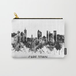 Cape Town South Africa Skyline BW Carry-All Pouch